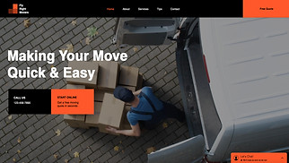 All website templates - Moving and Storage Service