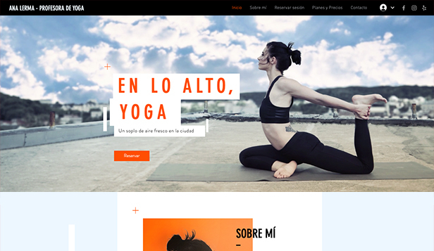 Deportes y fitness plantillas web – Instructor de Yoga