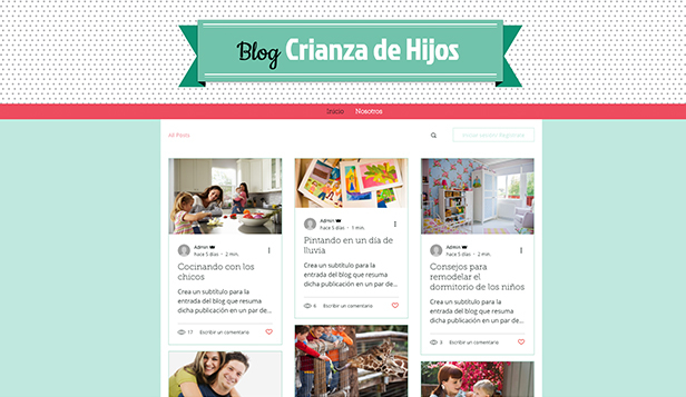 Blog personal plantillas web – Blog familiar