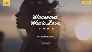 Music Industry website templates - Spirit Festival