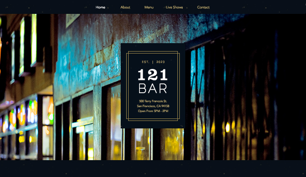 Bars en clubs website templates – stadsbar