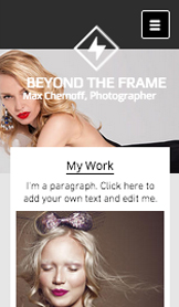 Presse et Entreprises website templates – Studio de Photographie