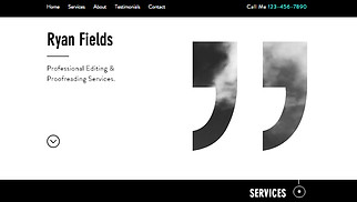 Creative Arts website templates - Editor
