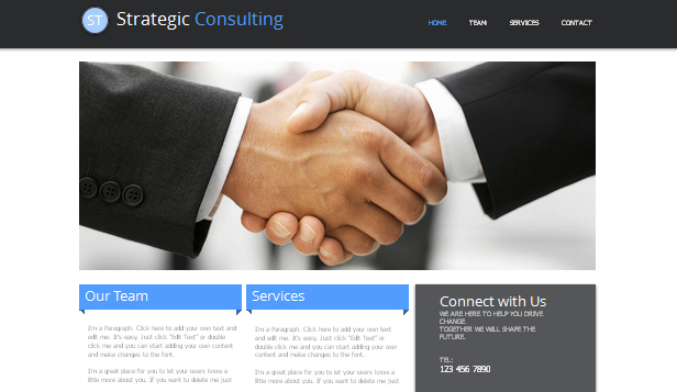 Konsulting i doradztwo website templates – Konsultant ds. strategii