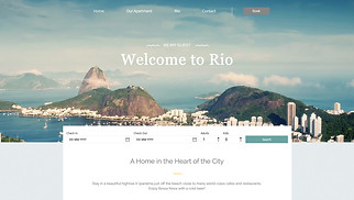 Travel & Tourism website templates - Rio Apartment Rental