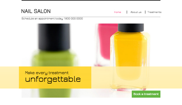 Make-up en cosmetica website templates – Nagelsalon