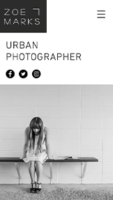 Fotografering website templates – Urbansk fotografering