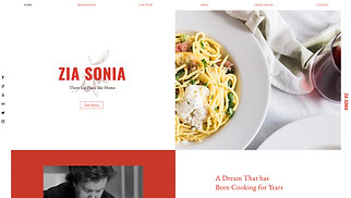 Restaurants & Food website templates - Italian Cuisine