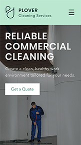 NEW! website templates – Commercial Cleaning Service