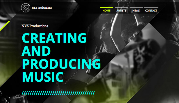 Muziekindustrie website templates – Muziekproductie