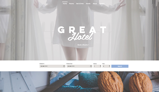 Hotele i B&B website templates – Świetny hotel