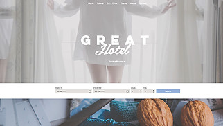 Travel & Tourism website templates - Great Hotel