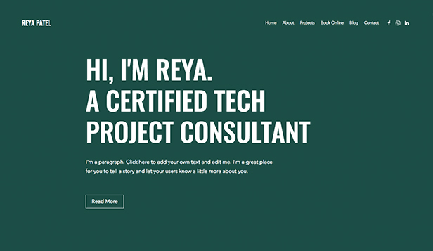 Technologie und Apps website templates – Project Consultant