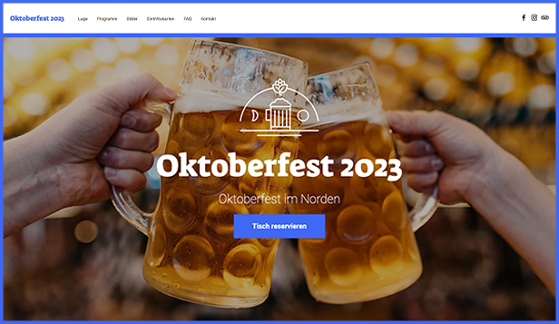 Veranstaltungen website templates – Oktoberfest Party