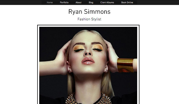 Portfolio template – Fashion stylist