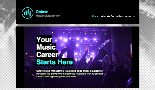 Musikindustrie website templates – Musikmanagement