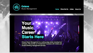 Music Industry website templates - Music Management