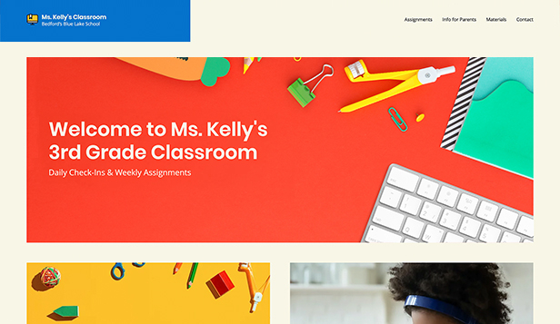 Utdanning website templates – Classroom