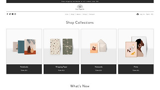 Online Store website templates - Stationery Store