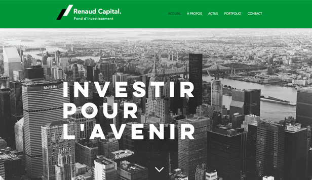 Droit et Finance website templates – Banque d'investissement