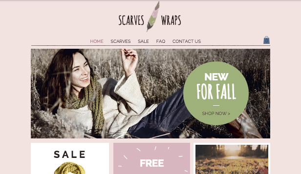 Schmuck & Accessoires website templates – Schal-Shop
