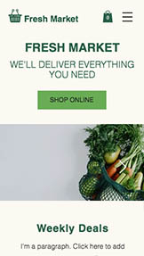 E-ticaret website templates – Online Grocery Store