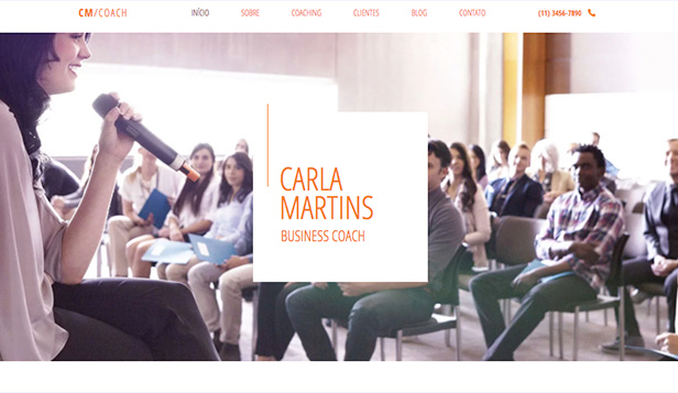 Consultoria e Treinamento website templates – Business coach