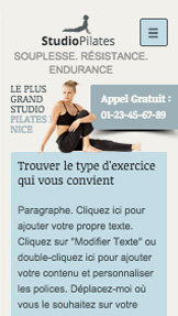 Sport et fitness website templates – Cours de Pilates
