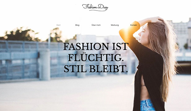 Mode website templates – Stil- & Modeblog