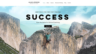 Personal website templates - Coaching Professional