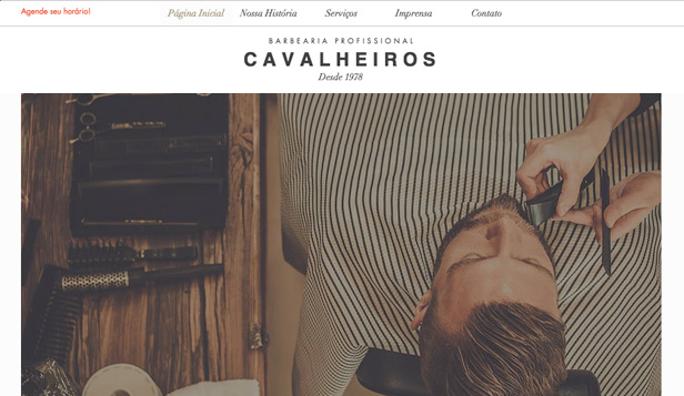 Pelo website templates – Barbearia tradicional