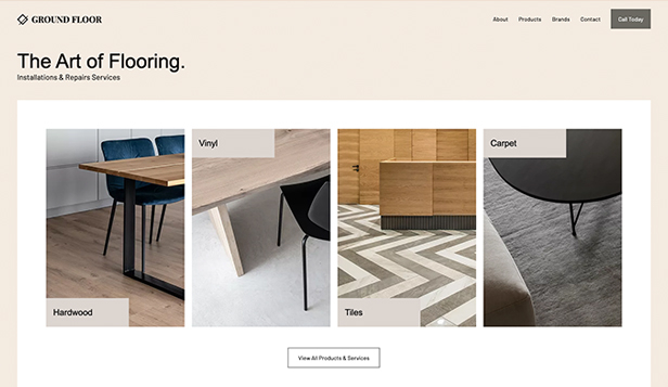 Diensten en onderhoud website templates – Flooring Services