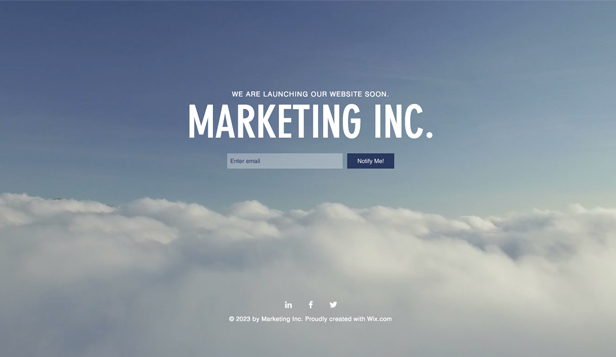 Business template – Pagina lancio marketing
