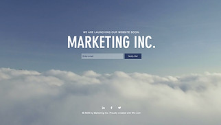 Advertising & Marketing website templates - Marketing Launch Page