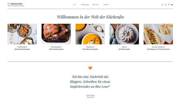 Restaurants & Essen website templates – Rezeptblog