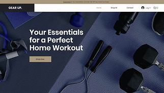 Online Store website templates - Sports Gear