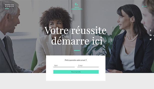Templates de site web pour Consulting et Coaching - Page d'atterrissage