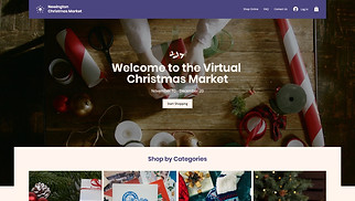 Events website templates - Online Christmas Market