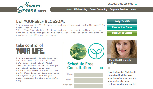 Consulting Coaching Website Templates Business Wix Com Page 3