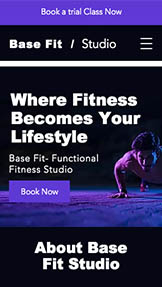 Sport a fitness website templates – Funkční studio