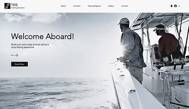 Novo website templates – Fishing Charters