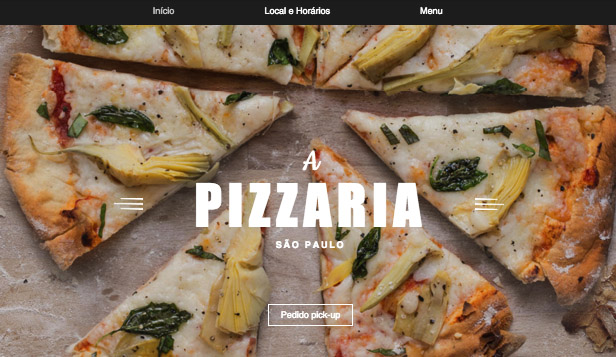 Restaurante website templates – Delivery de Pizza