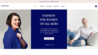 Online Store website templates - Plus Size Fashion