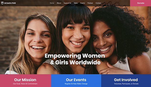Non-Profit website templates – Women Empowerment NGO