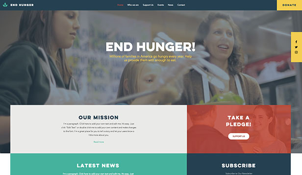 Non-Profit website templates – Voedselbank