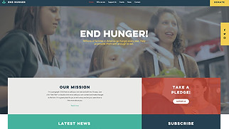 Non-Profit website templates - Food Charity
