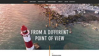 Photography website templates - Aerial Photography