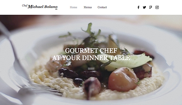 Catering og kokk website templates – Privat kokk