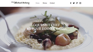 Restaurants & Food website templates - Private Chef