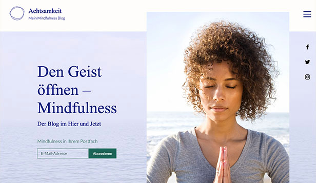 Gesundheit & Wellness website templates – Mindfulness Blog